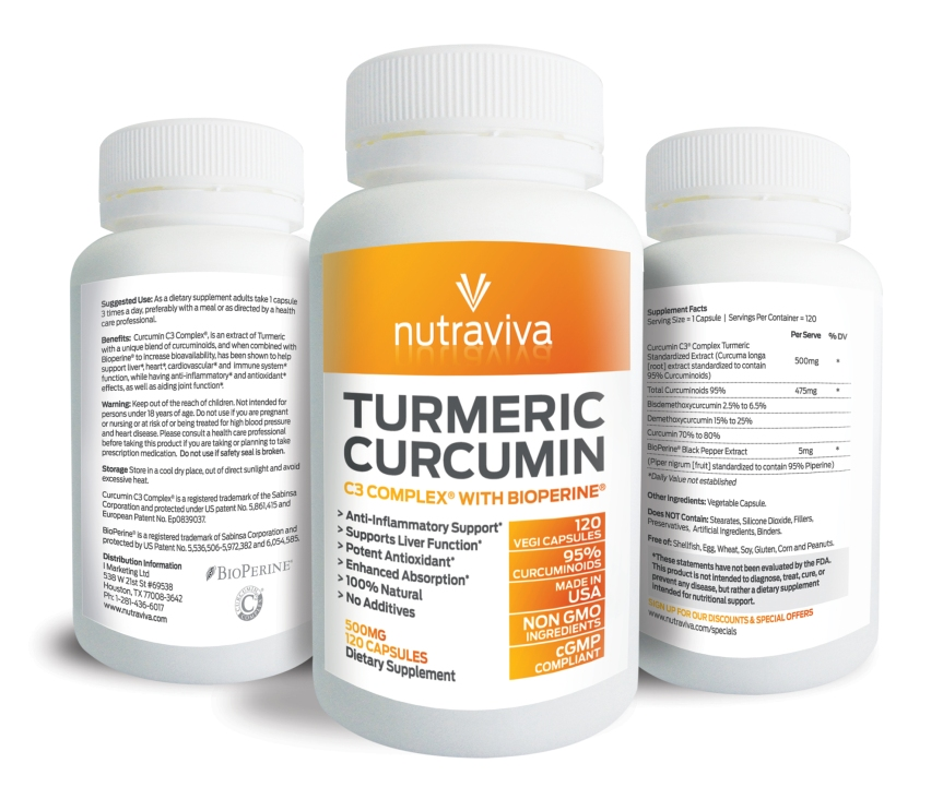 Premium Natural Turmeric Supplement, Curcumin C3 Complex® – 2000% More Bioavailable Review