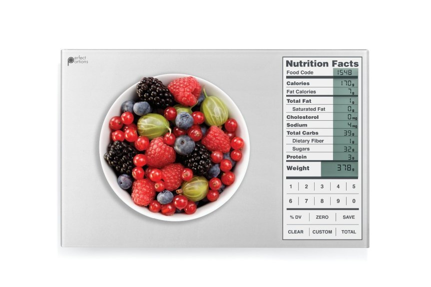 Perfect Portions Digital Scale + Nutrition Facts Display, Silver Review